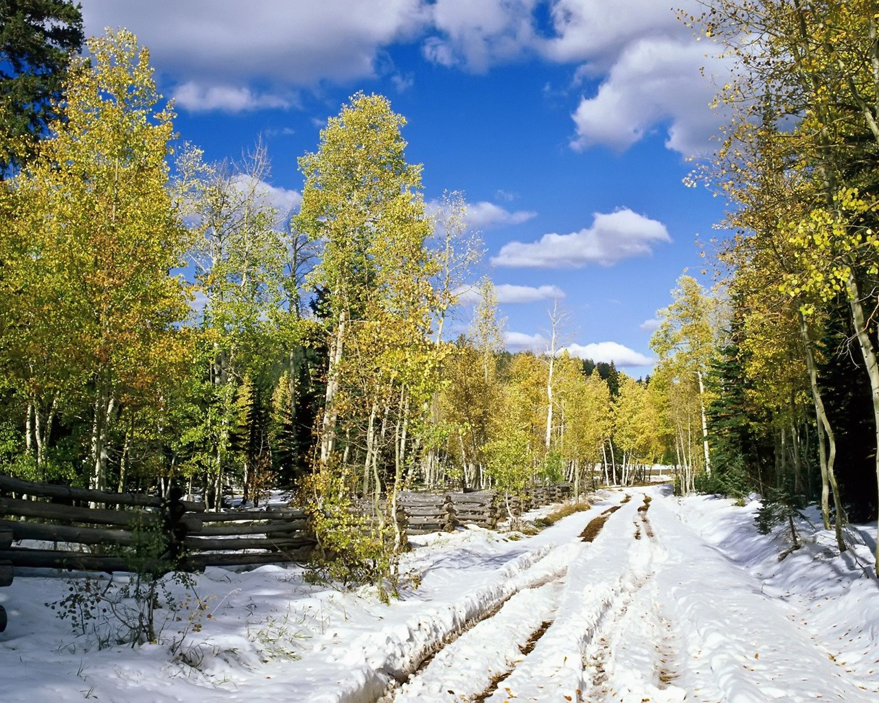 Utah in Early Winter Wallpaper Winter Nature Wallpapers in jpg format 1280x1024
