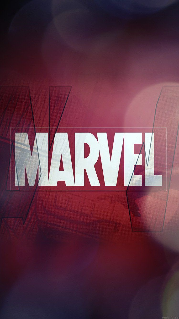 papersco ai55 marvel logo film art illust minimal bokeh 750x1334