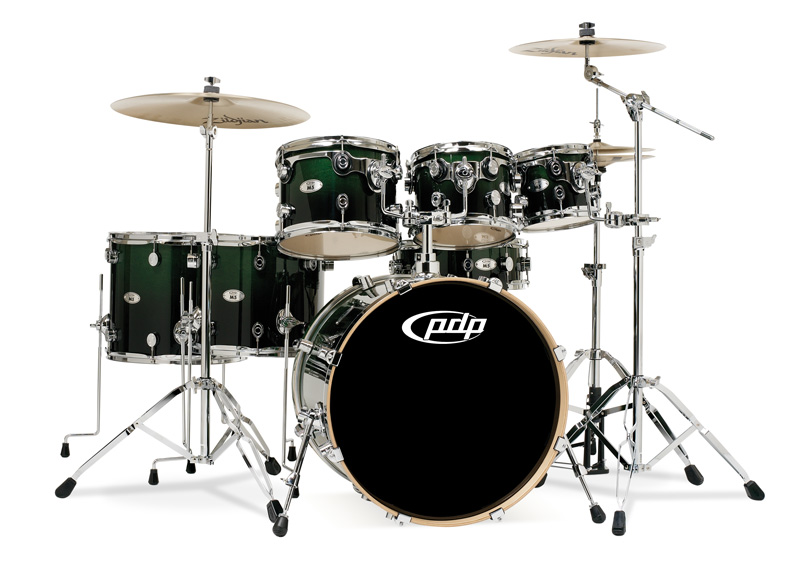 PDP Kits   Pacific Drums and Percussion M5 Series   Lacquered Emerald 800x561