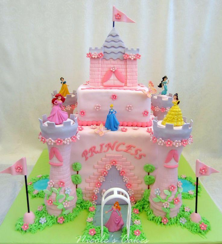 Disney Princess Castle Cake Wallpaper cake Pinterest 736x810