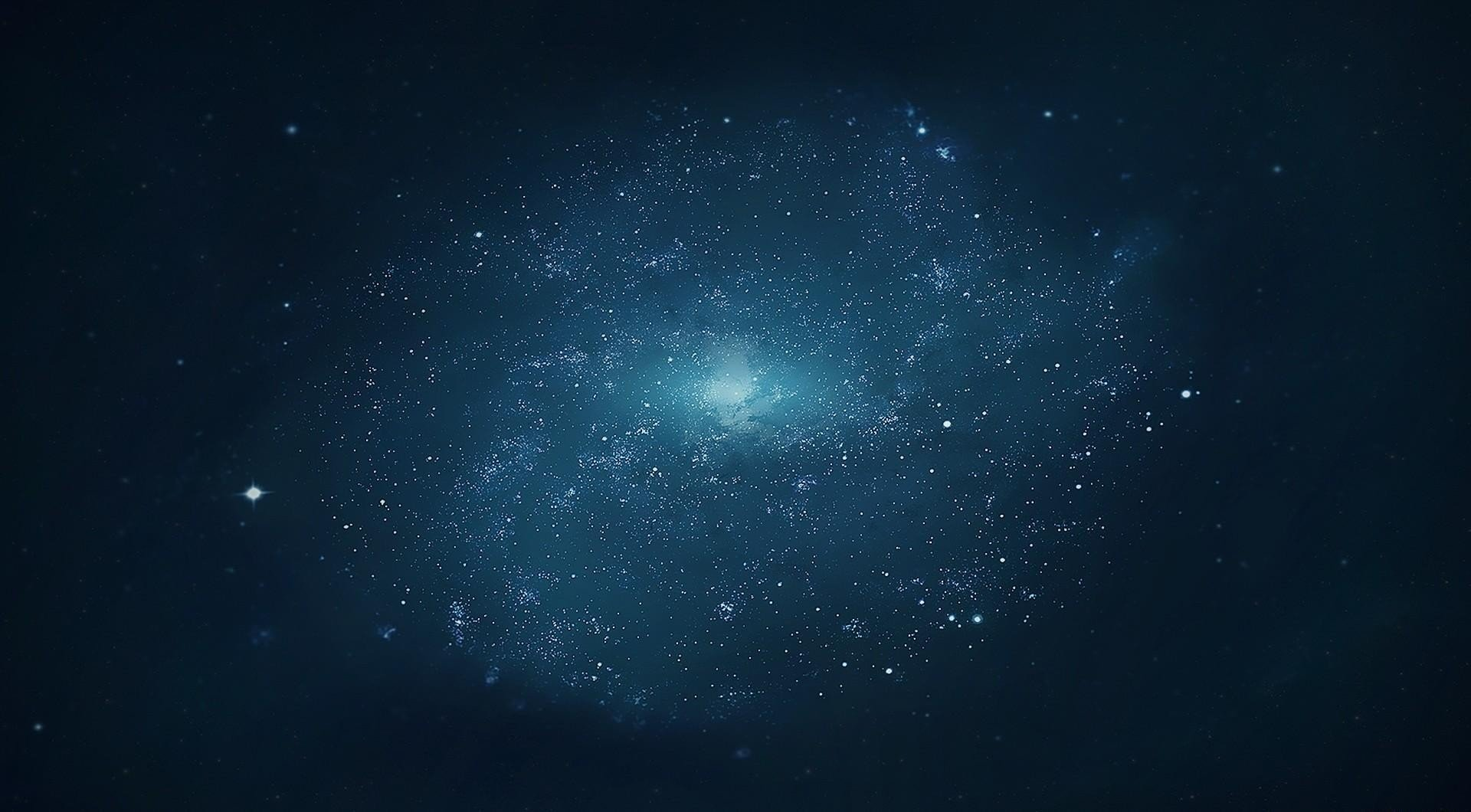 Wallpaper round galaxy in deep space desktop background 1920x1060