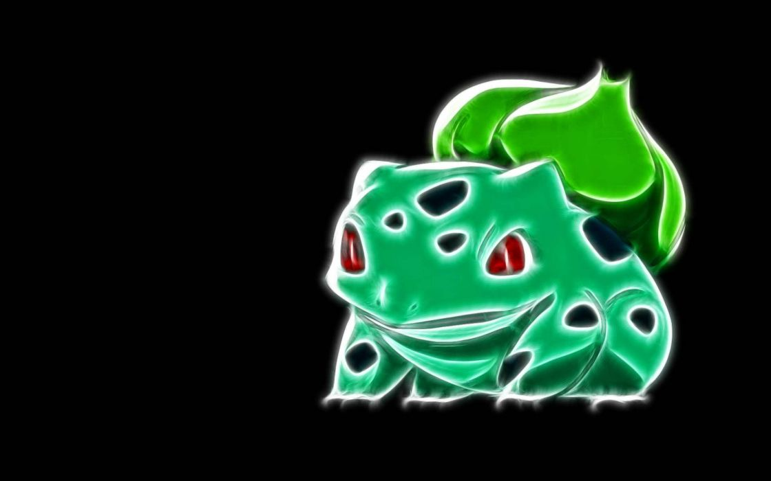 Pokemon Bulbasaur black background wallpaper 1920x1200 328217 1120x700