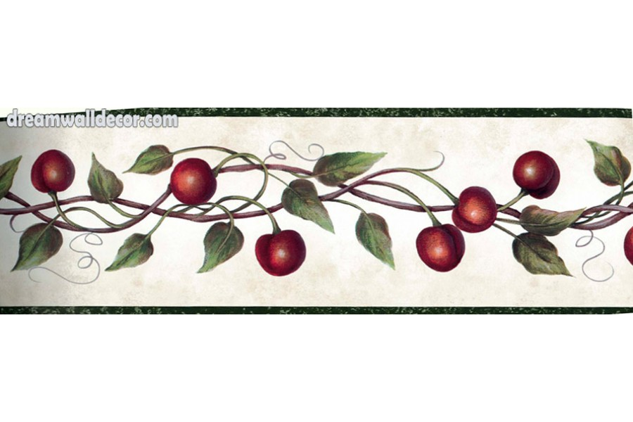 Red Cherries Wallpaper Border 900x600
