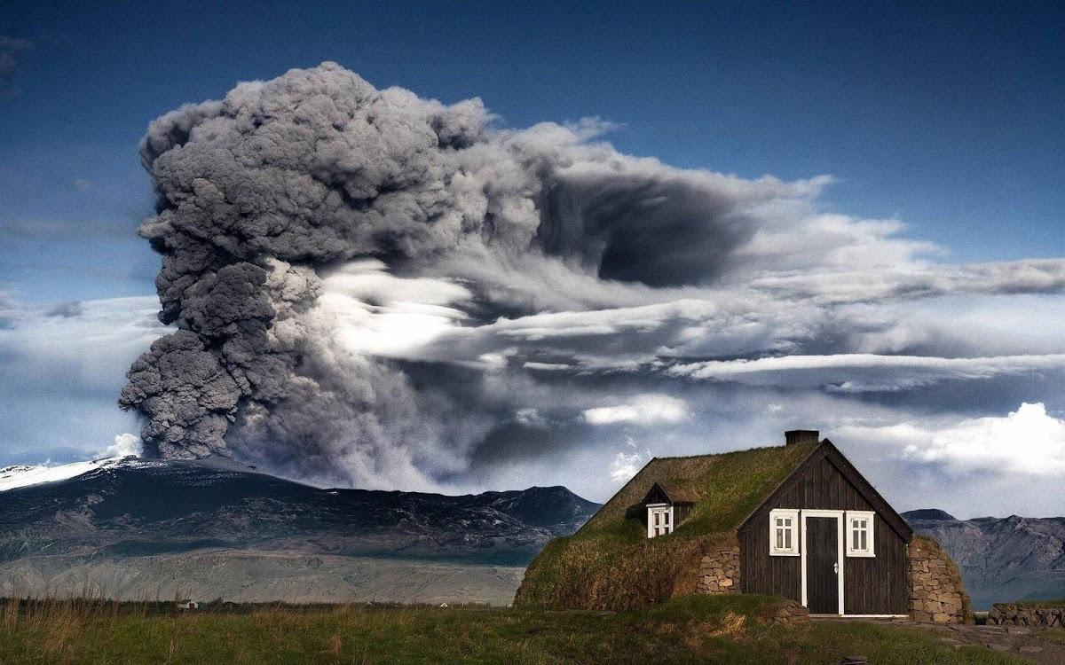 Volcano Clouds Widescreen HD Wallpaper 1200x750