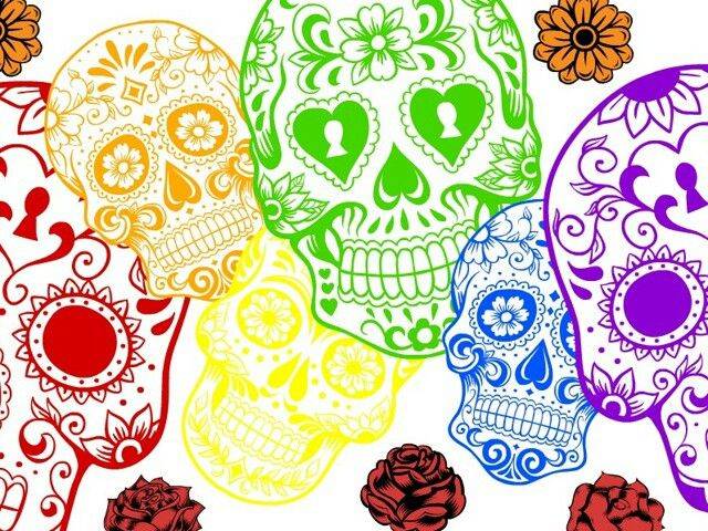 cool sugar skull background ArtI like Pinterest Sugar Skull 640x480