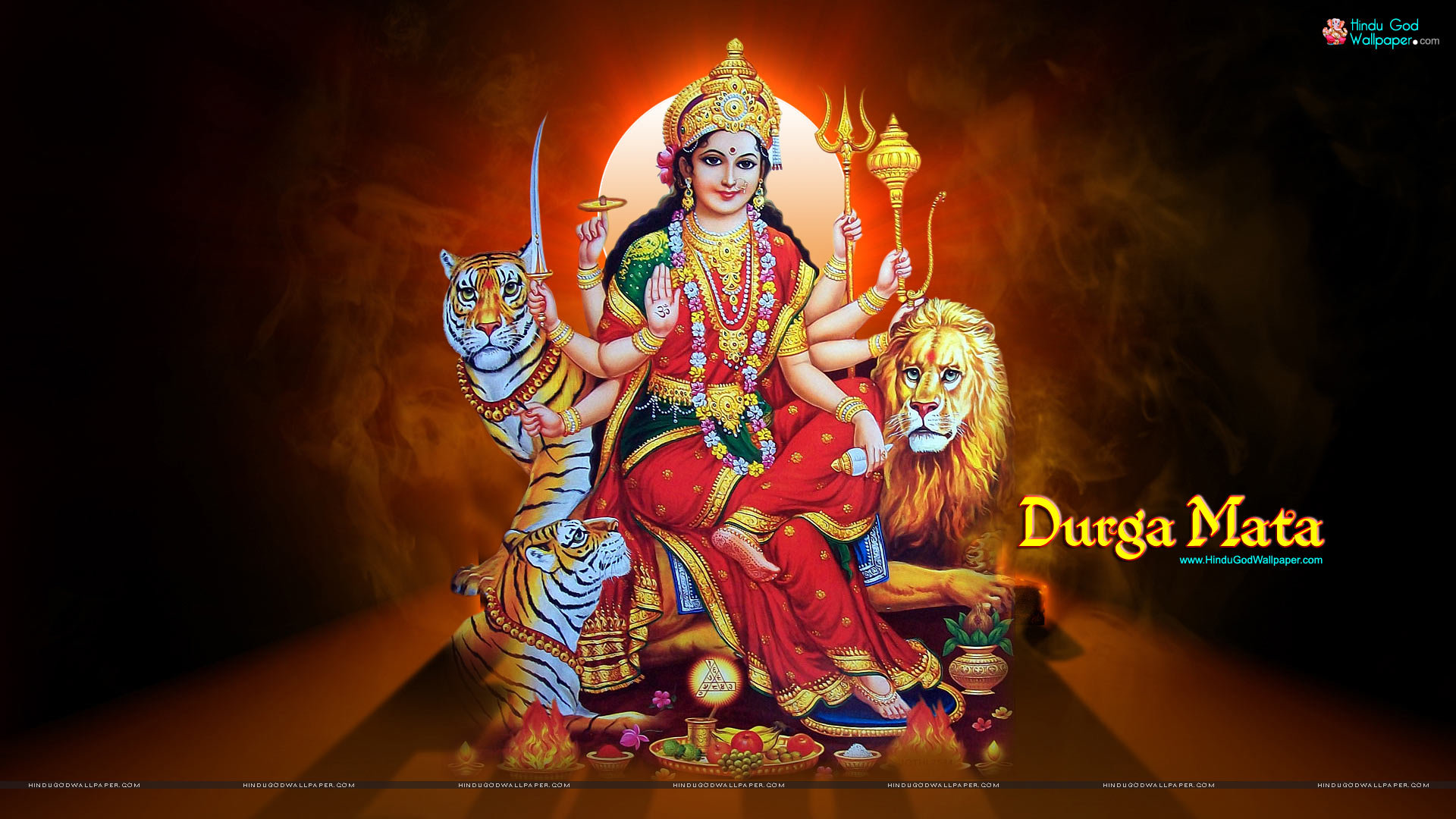 Goddess Durga HD widescreen Wallpaper Download 1920x1080