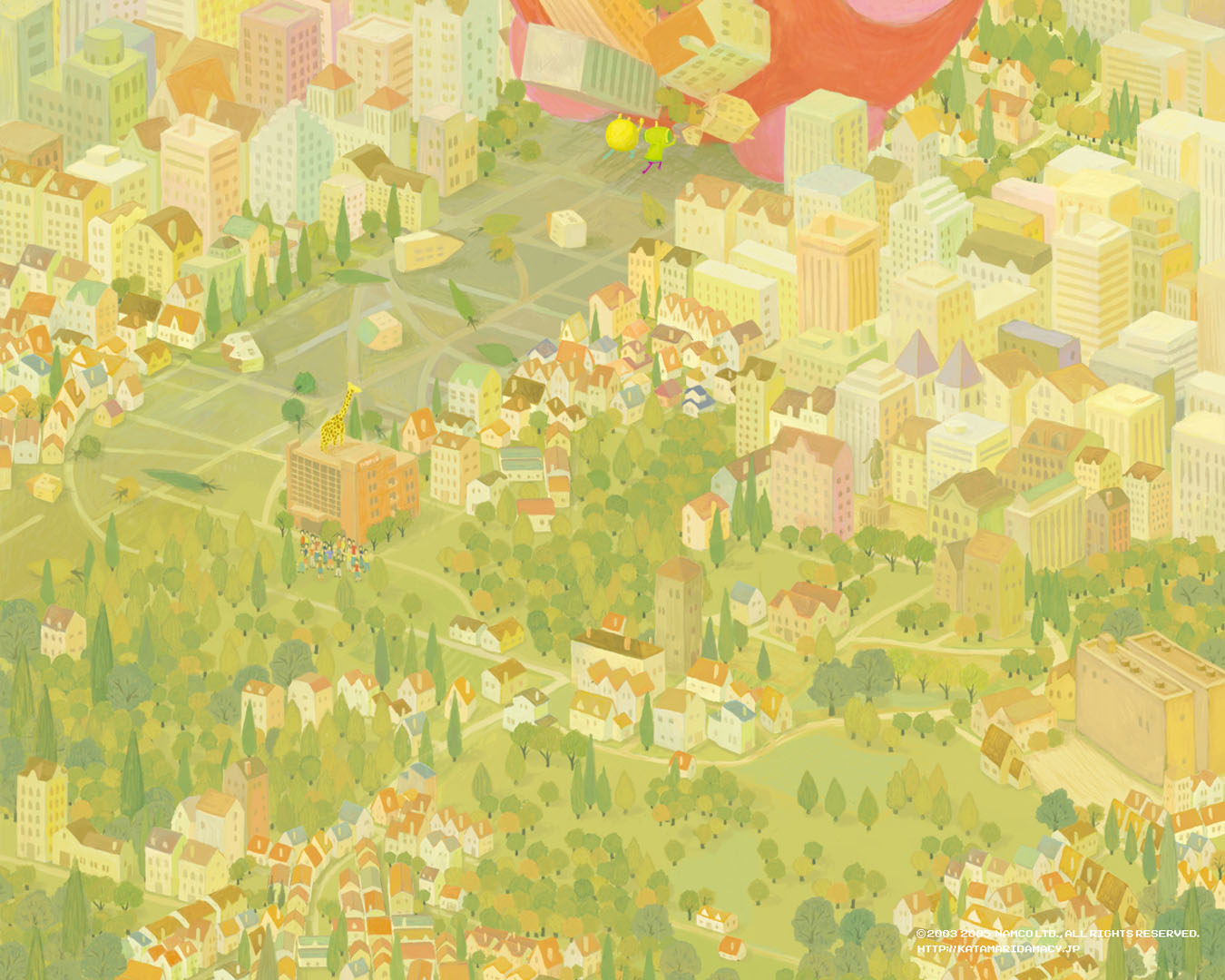 World   Action Games Wallpaper Image featuring Katamari Damacy 1350x1080