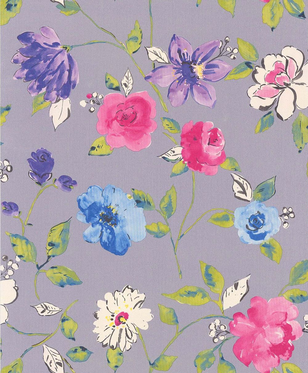 Free Download Bold Floral By Galerie Purple Wallpaper Direct