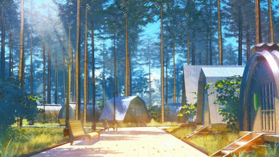 Summer Camping Wallpaper - WallpaperSafari Camping Forest Wallpaper