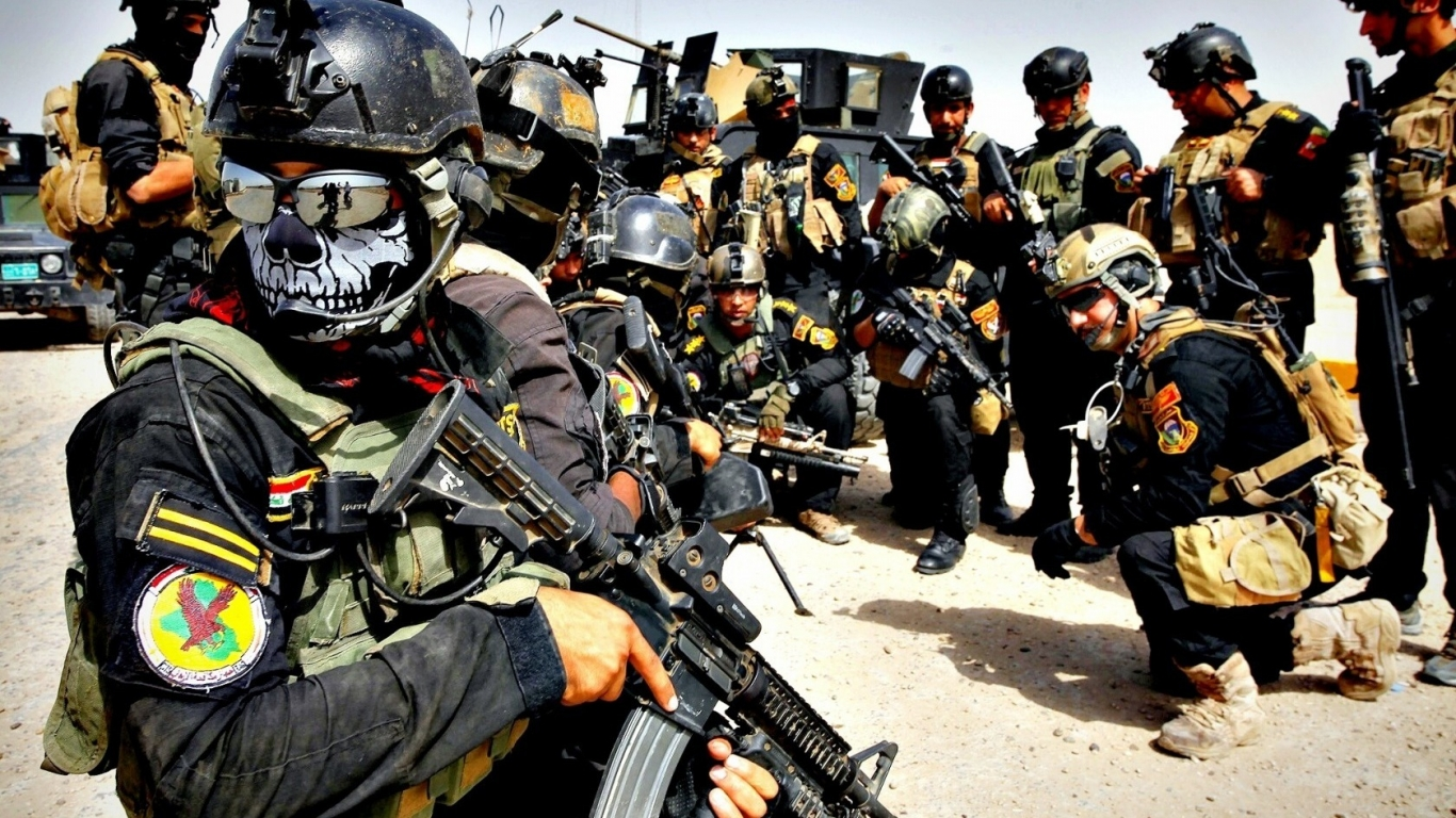 You can download Iraqi special forces wallpaper in your computer by 1366x768