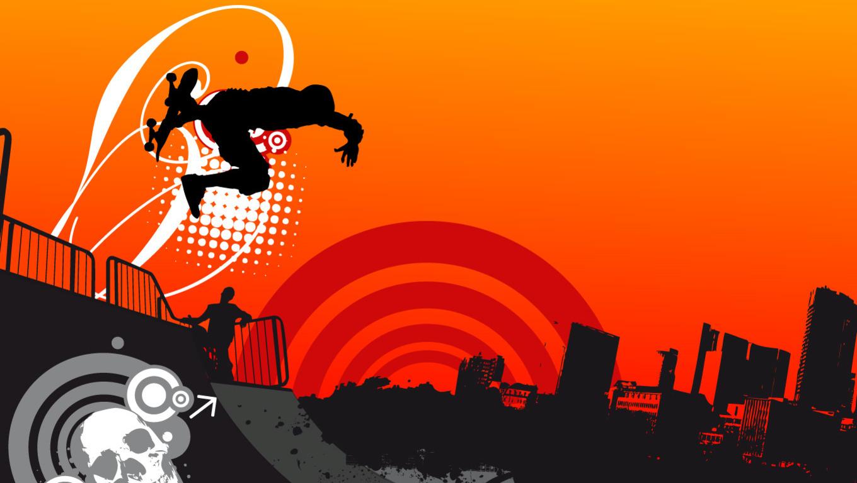 Super Skate Wallpaper 1360x768