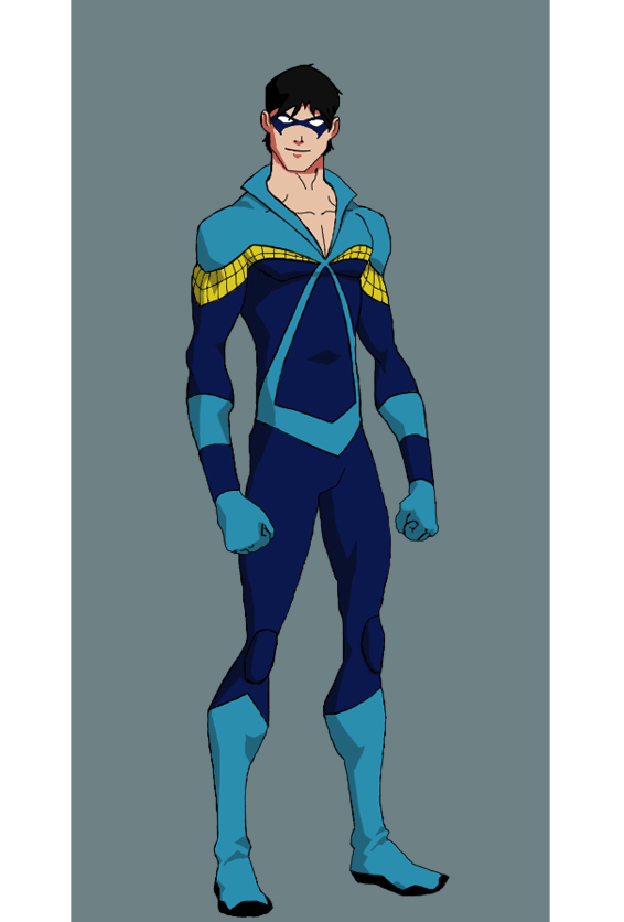 Young Justice Nightwing Costume Young justice nightwing 566x836