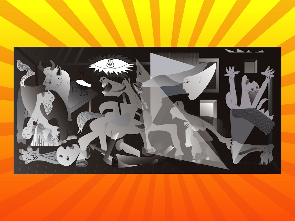 Guernica Wallpaper Pablo Picasso Paintings Background 1024x767