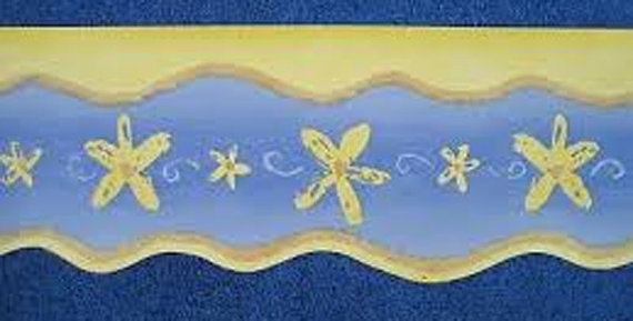 Wallpaper Border   Brewster Wallcoverings Gold Stars on Blue 570x289