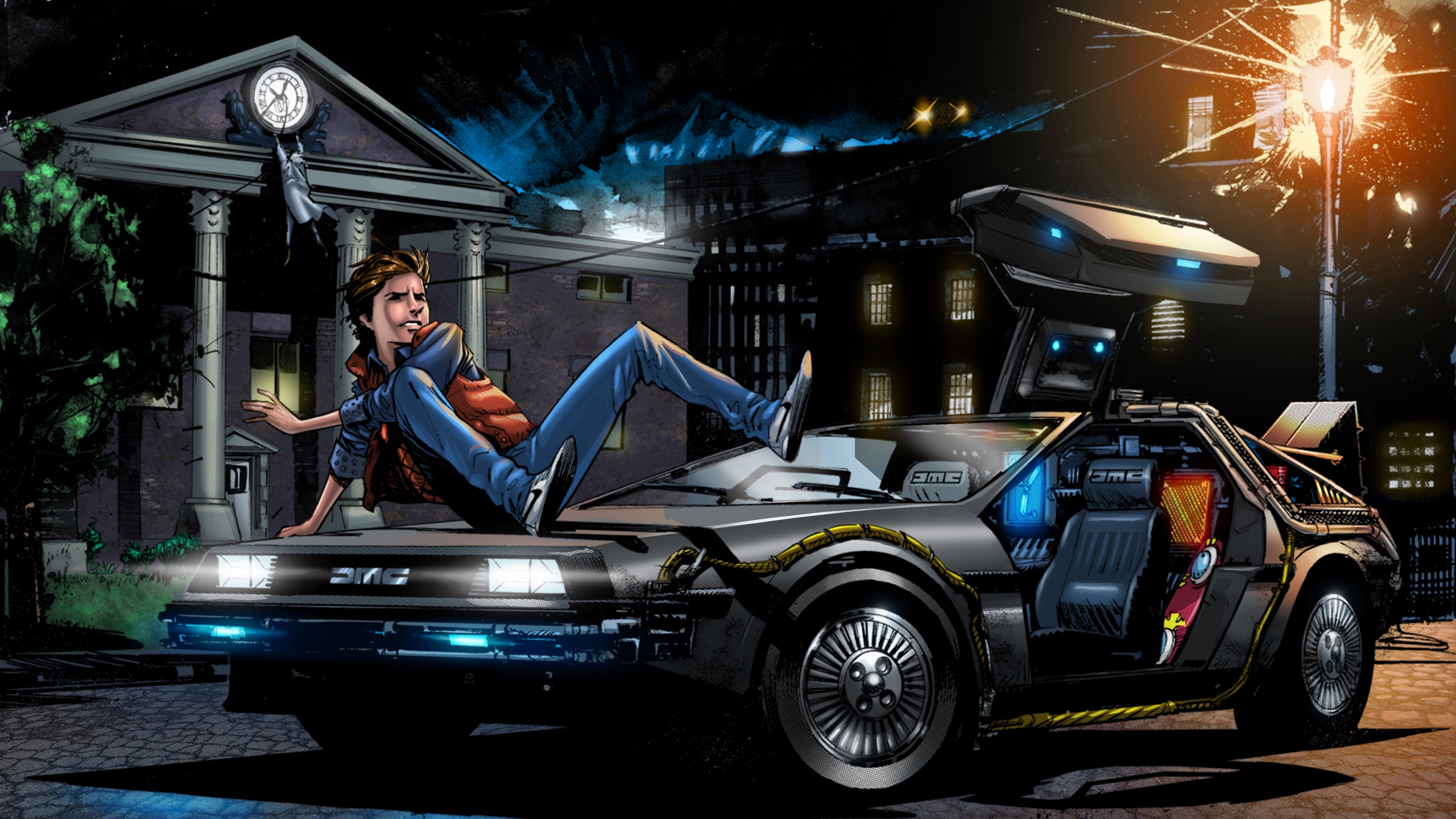 Download wallpaper 2560x1440 back to the future marty mcfly art 2560x1440