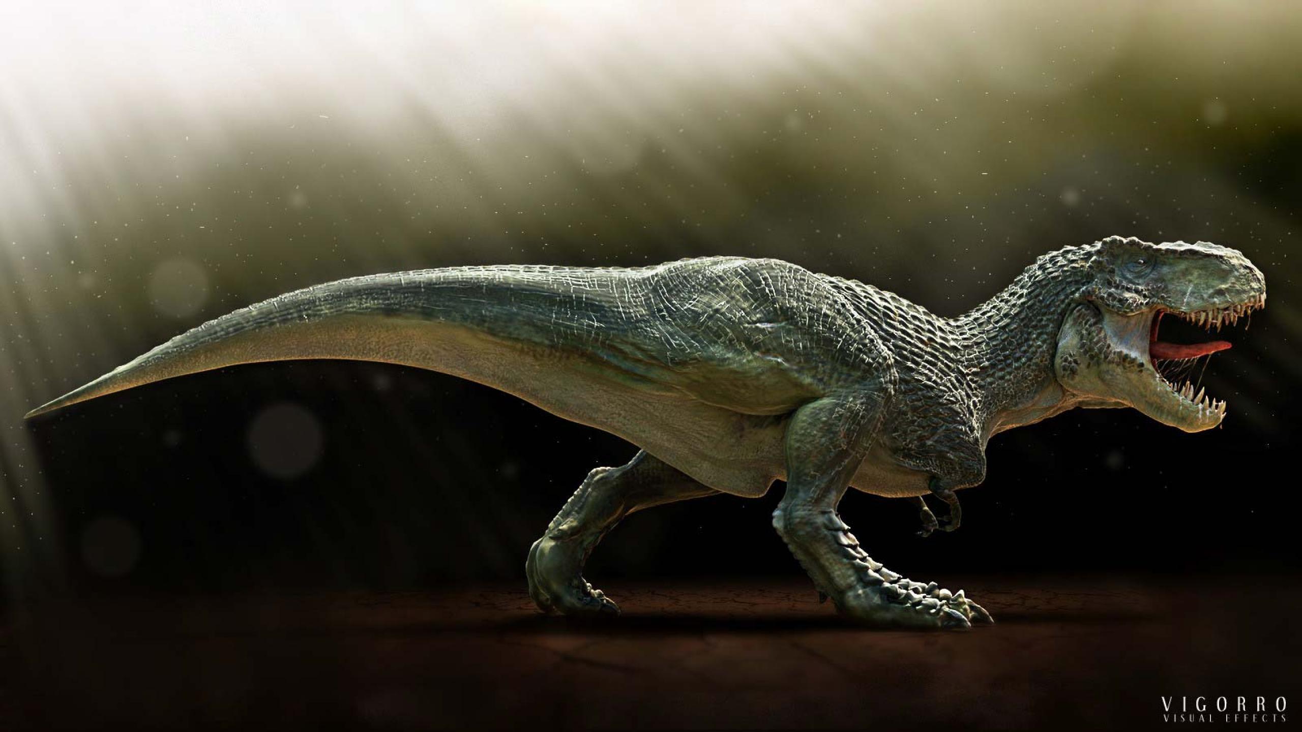 3d view dinosaurs t rex tyrannosaurus rex Ultra or Dual High 2560x1440