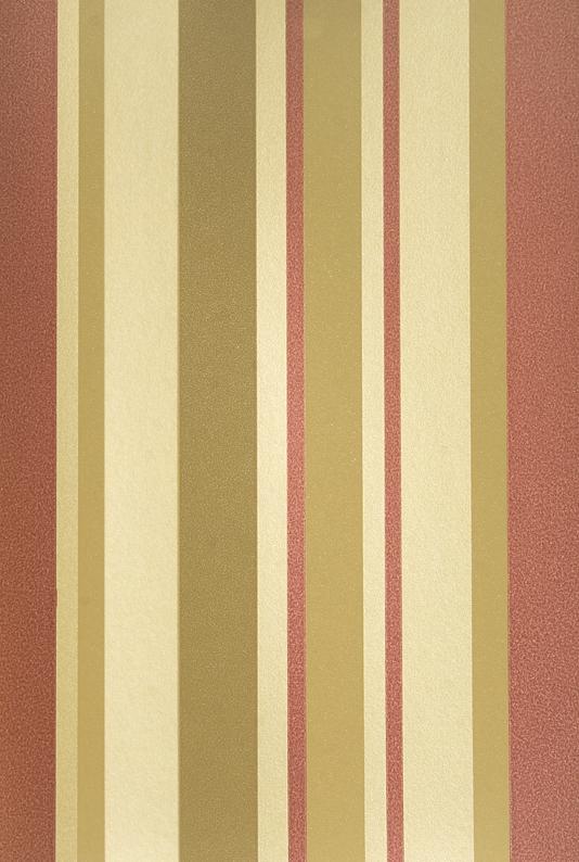Stripe Wallpaper Rich red cream and metallic gold irregular striped 534x794