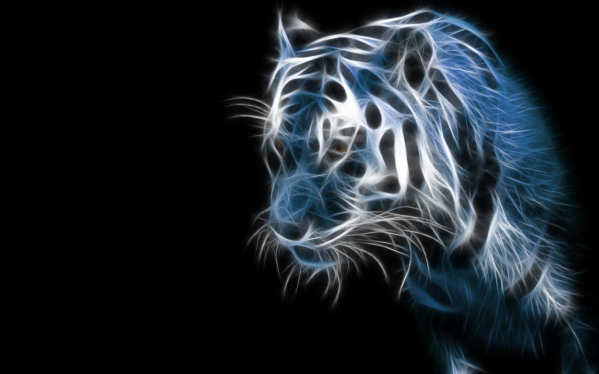 3D Wallpaper Wallpapers 3D BRIGHT EYES Tiger 1920x1200