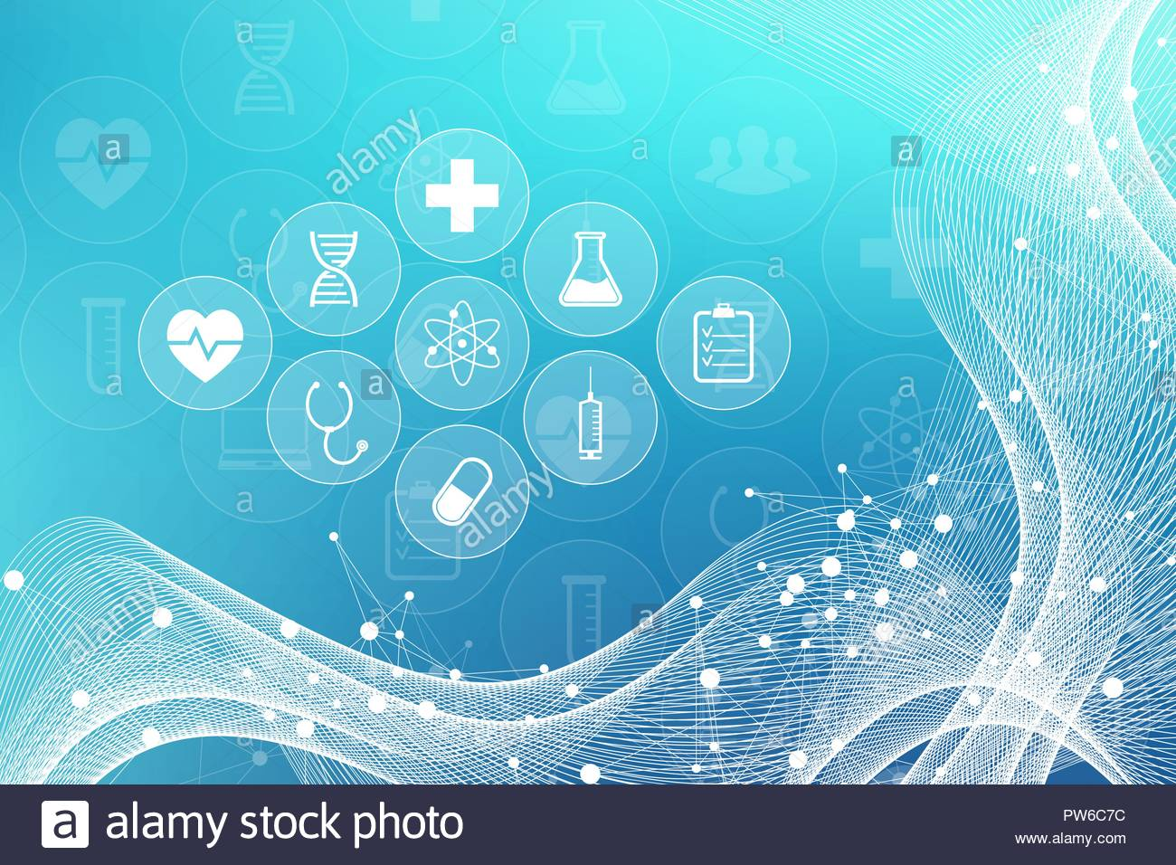Medical abstract background with health care icons Medical 1300x956