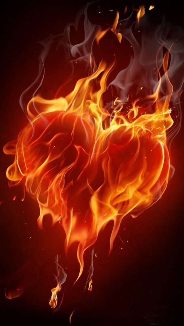 orangequenalbertini Heart on Fire iPhone Wallpaper Something 640x1136