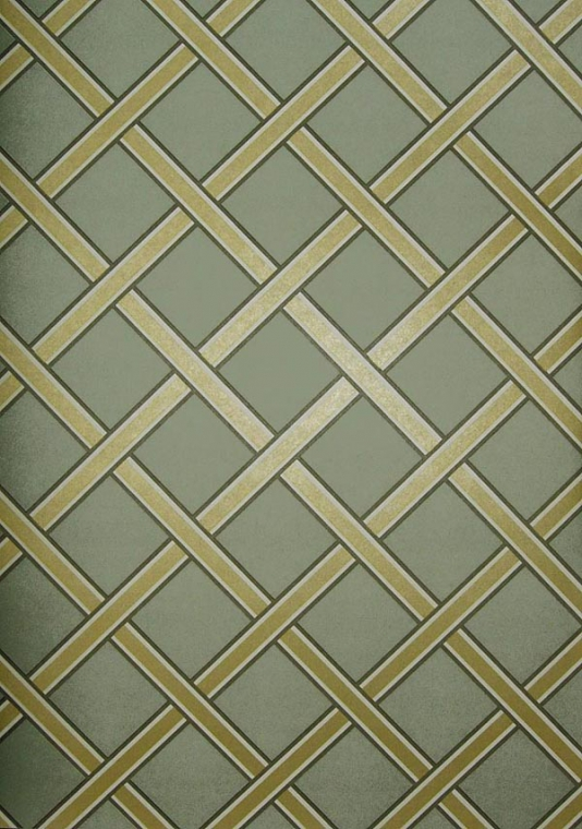 Gilt Trellis Wallpaper Duck egg wallpaper with gold trellis 534x760