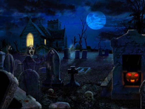 Scary animated halloween wallpaper wallpapersafari - Scary animated backgrounds ...