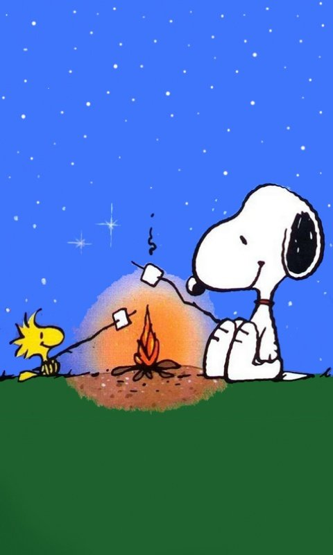Pin 480x800 Snoopy Camping Wallpaper Screensaver Preview Id On