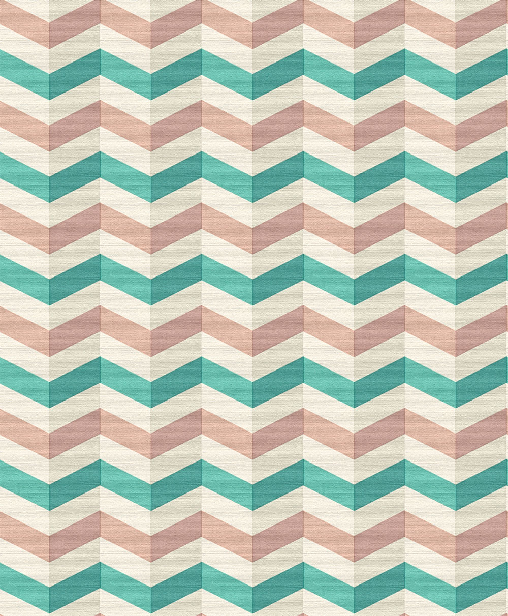 Zigzag by Albany   Pink and Green   Wallpaper Wallpaper Direct 1000x1212