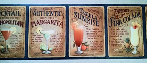 Tropical Cocktails Wallpaper Border Food Beverages Tobacco Beverages 500x216