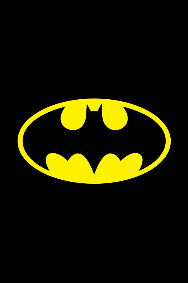 Batman Symbol iPhone Wallpaper Simply beautiful iPhone wallpapers 640x960