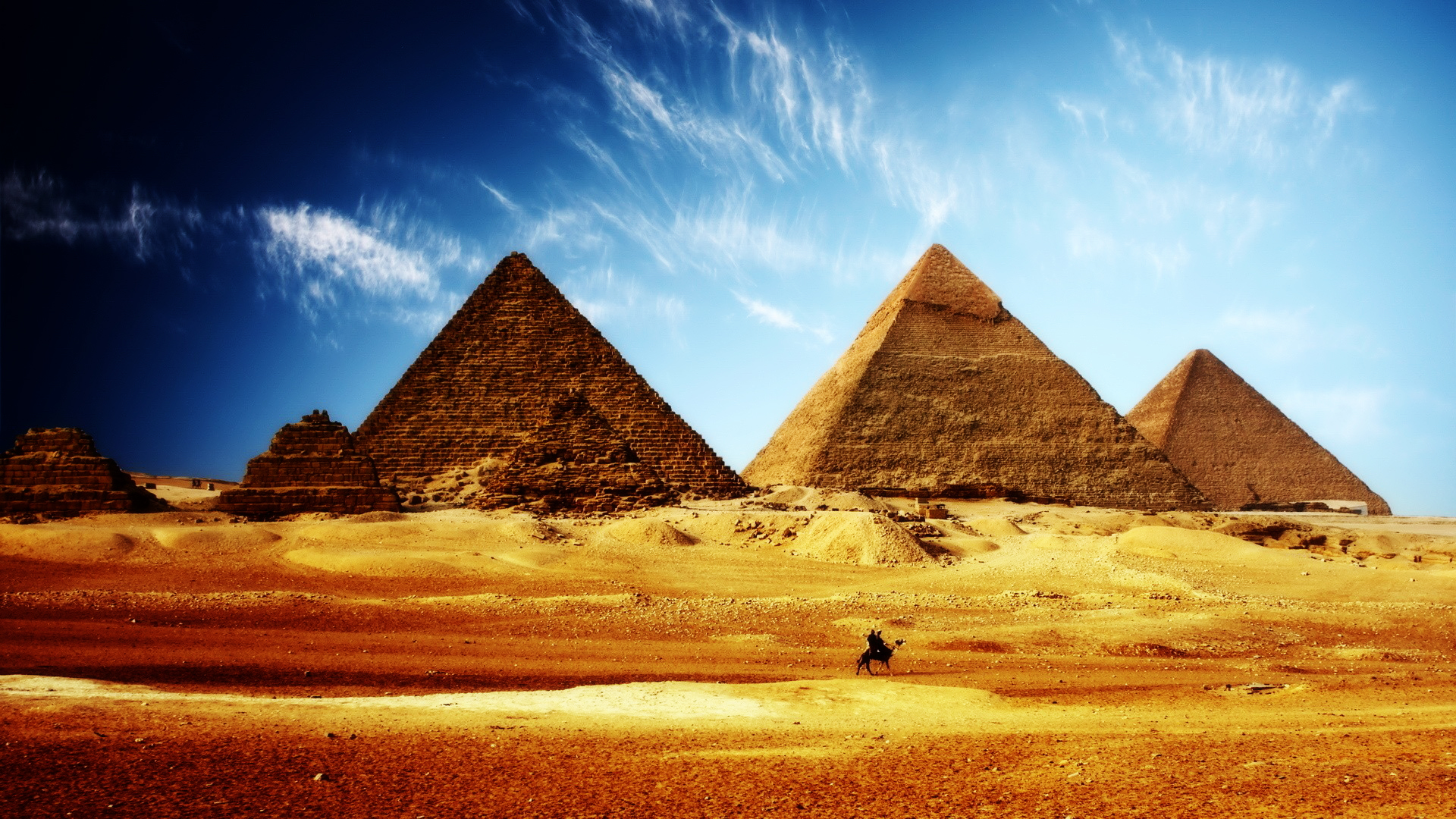 Egypt Pyramids HDR wallpaper 1920x1080