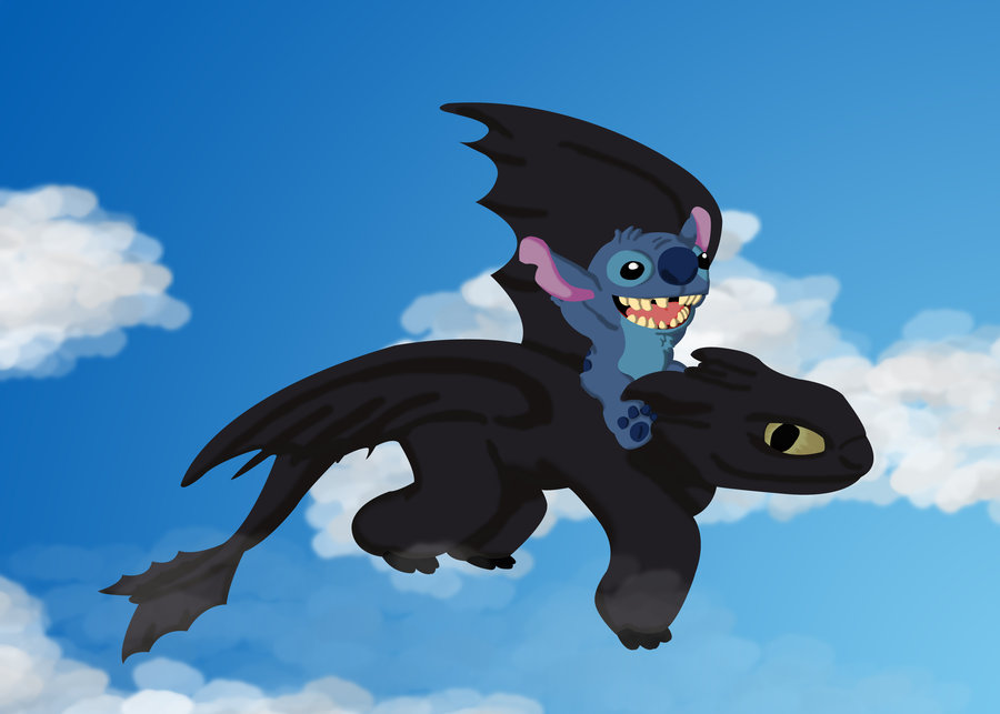Toothless And Stitch Stitch and toothless by huai 900x643