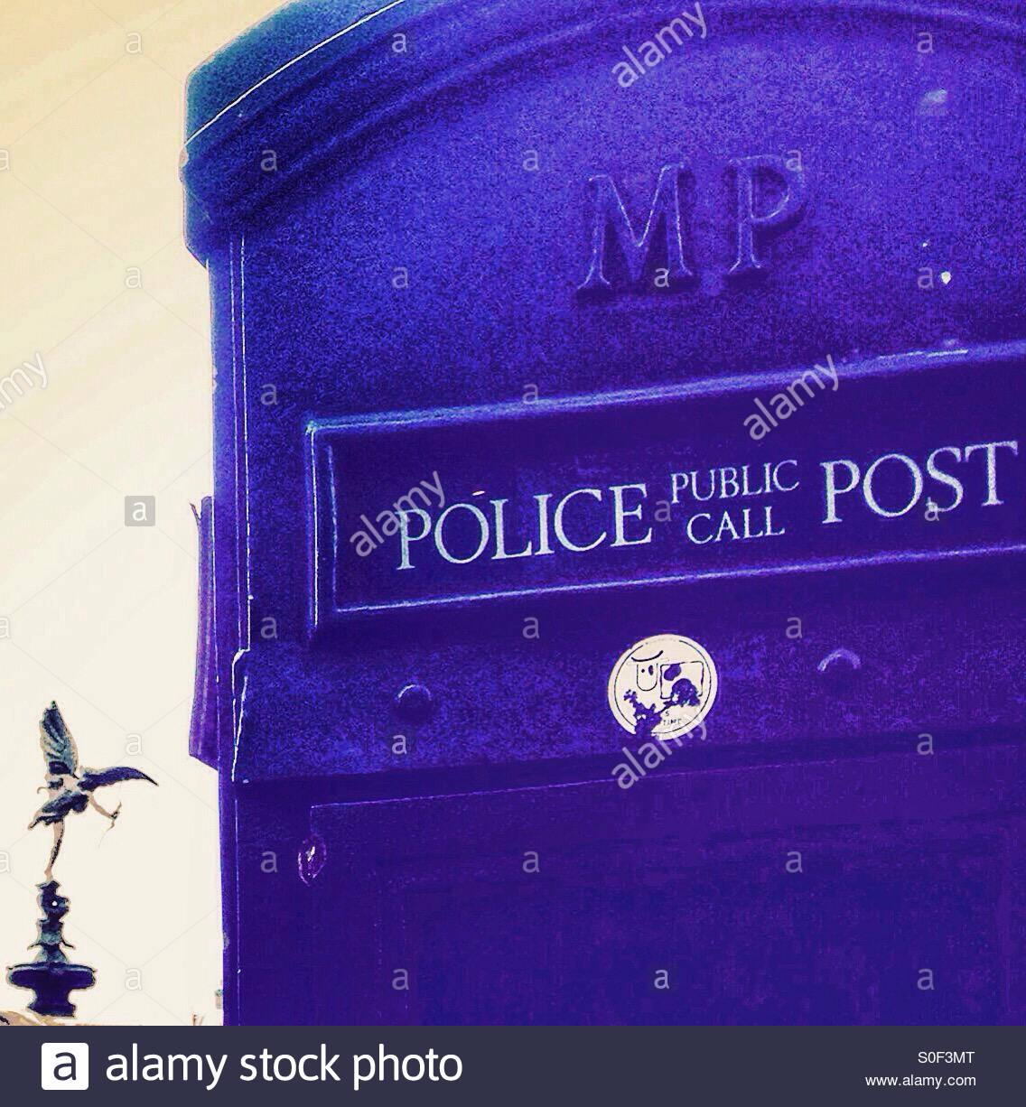 Old police phone box with Eros in the background   Piccadilly 1136x1226