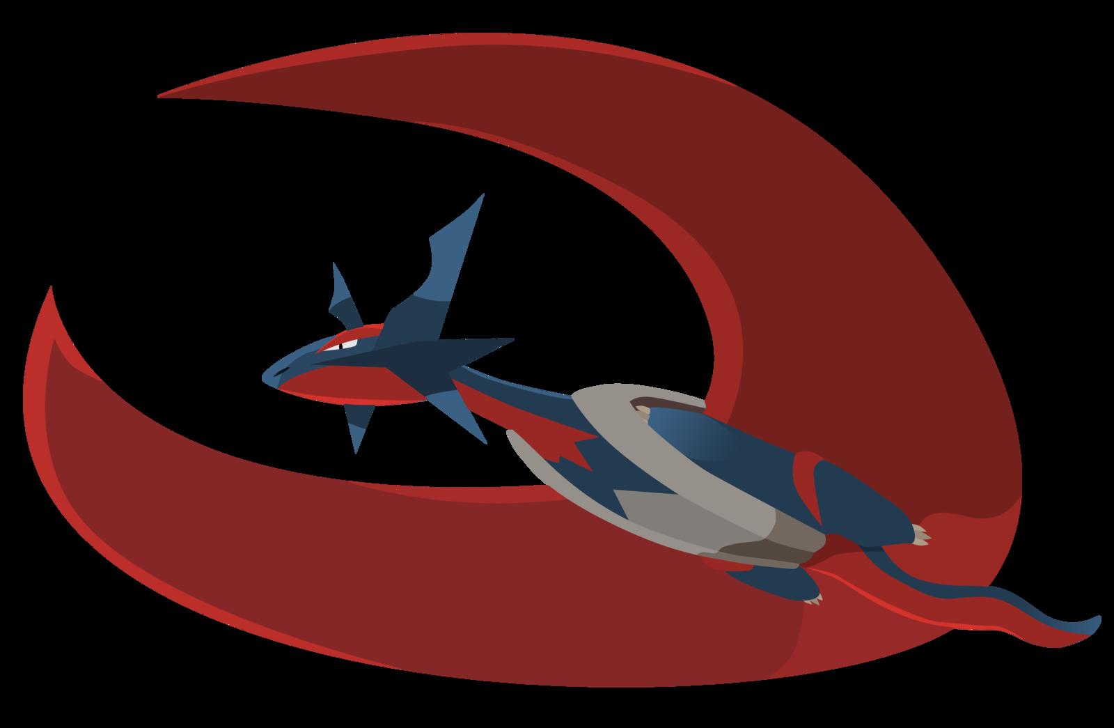 Mega Salamence Vector   Pokemon ORAS by firedragonmatty 1600x1045