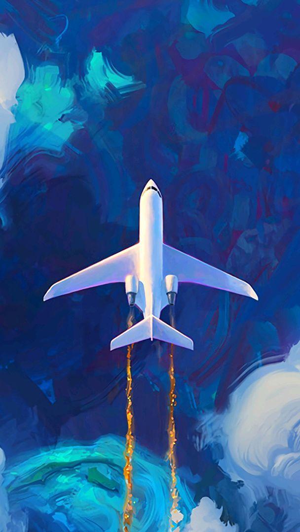 Jet Plane on Atlantic iPhone Wallpaper   iPhone Wallpapers 608x1080