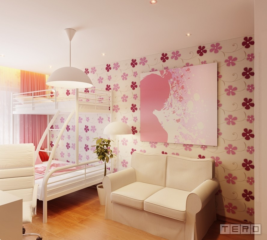 Adorable Baby Room Décor Ideas: [49+] Pink Wallpaper For Girls Room On WallpaperSafari