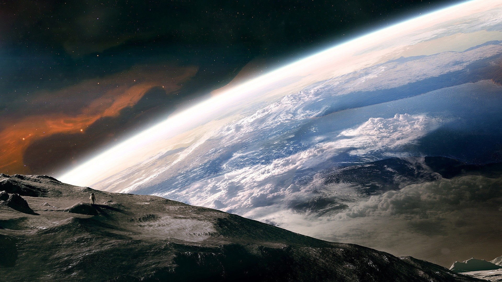 Outer Space Wallpaper 1920x1080 Outer, Space, Earth, Astronauts ...