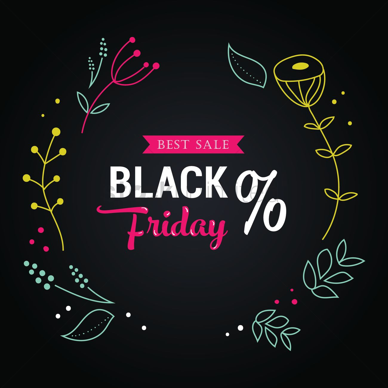Black friday sale wallpaper Vector Image   1583256 StockUnlimited 1300x1300
