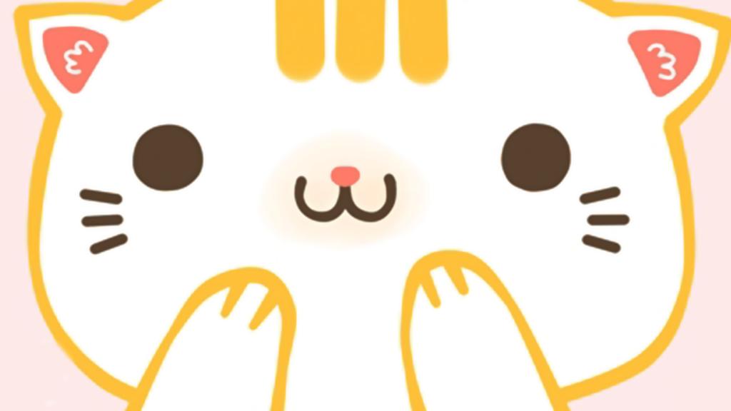 Wallpaper Cat kawaii White by besersilady on DeviantArt