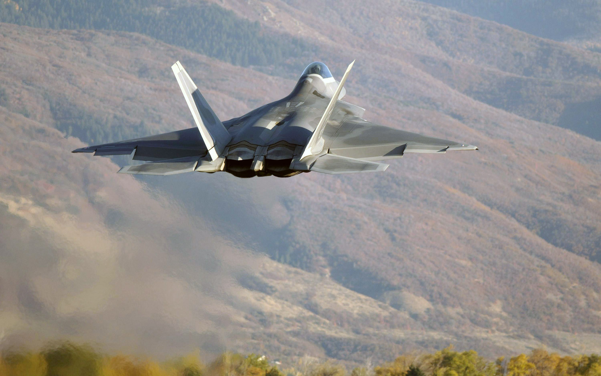 F22 over hills wallpapers F22 over hills stock photos 1920x1200