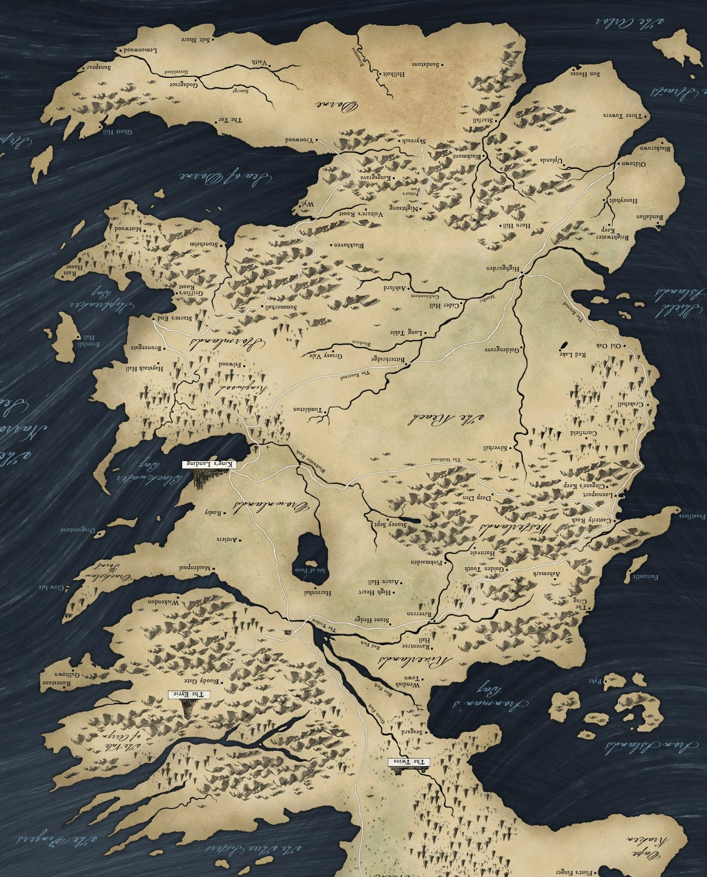 Desktop Wallpaper World Map: Game Of Thrones Map Wallpaper