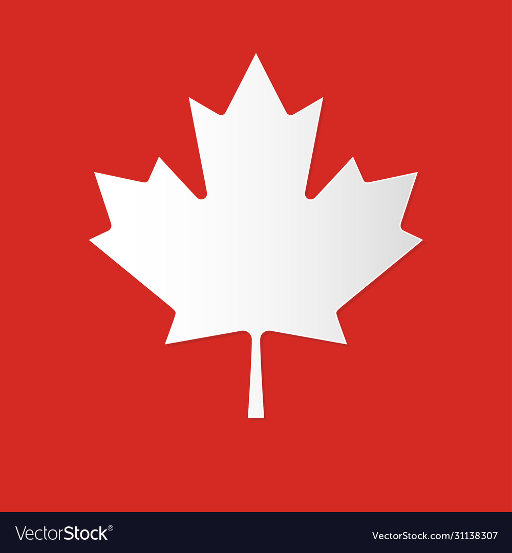 Original canadian background with maple leaf Vector Image 1000x1080