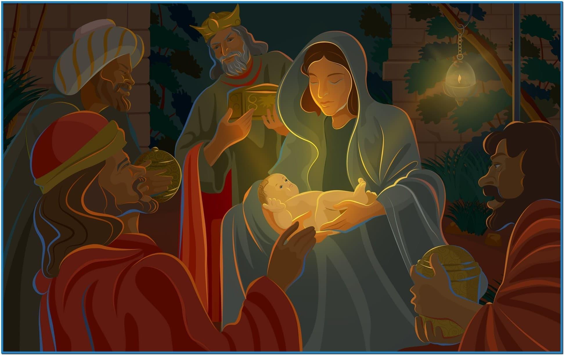 Christian christmas wallpapers and screensavers - Download free