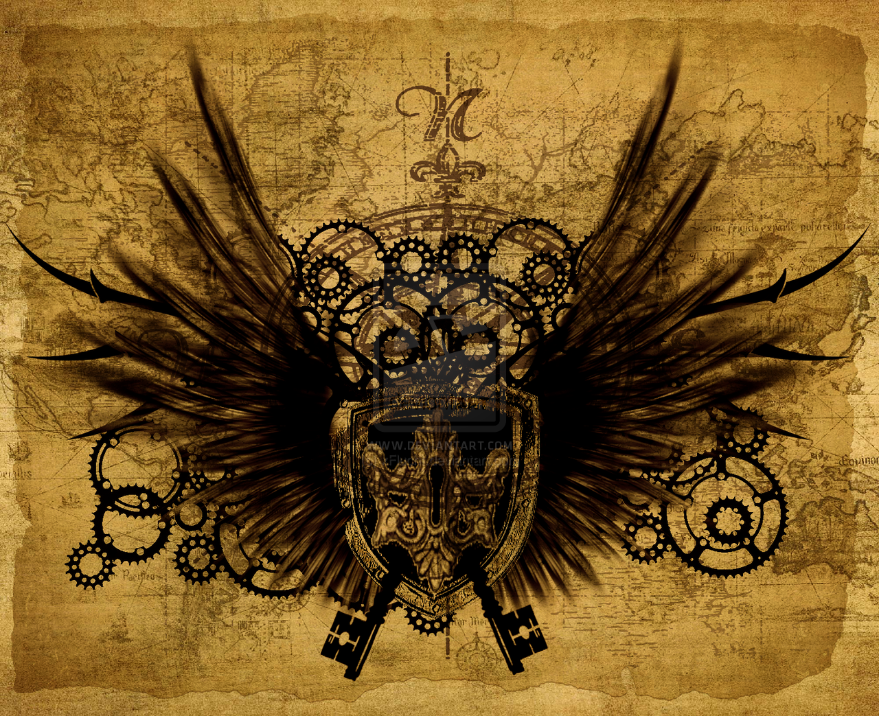 Steampunk wallpaper stage 6 by xFlucht 1280x1043