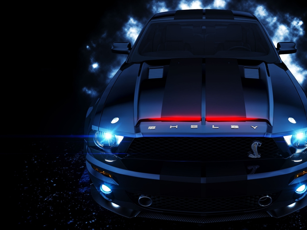 Download Wallpapers Download 1280x960 cars ford mustang knight rider 1280x960