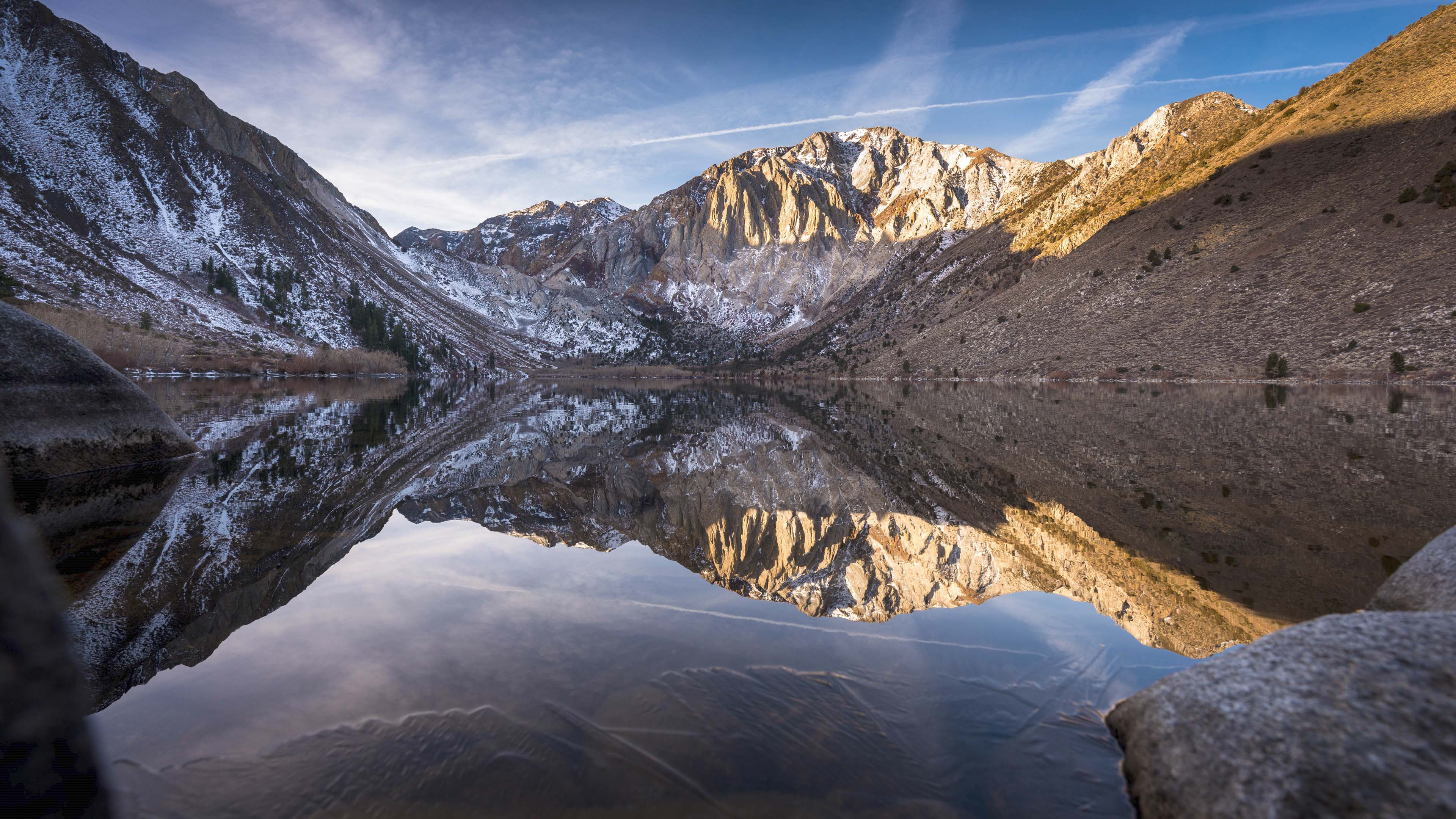 4K View over the Convict Lake Wallpapers HD Wallpapers 3840x2160