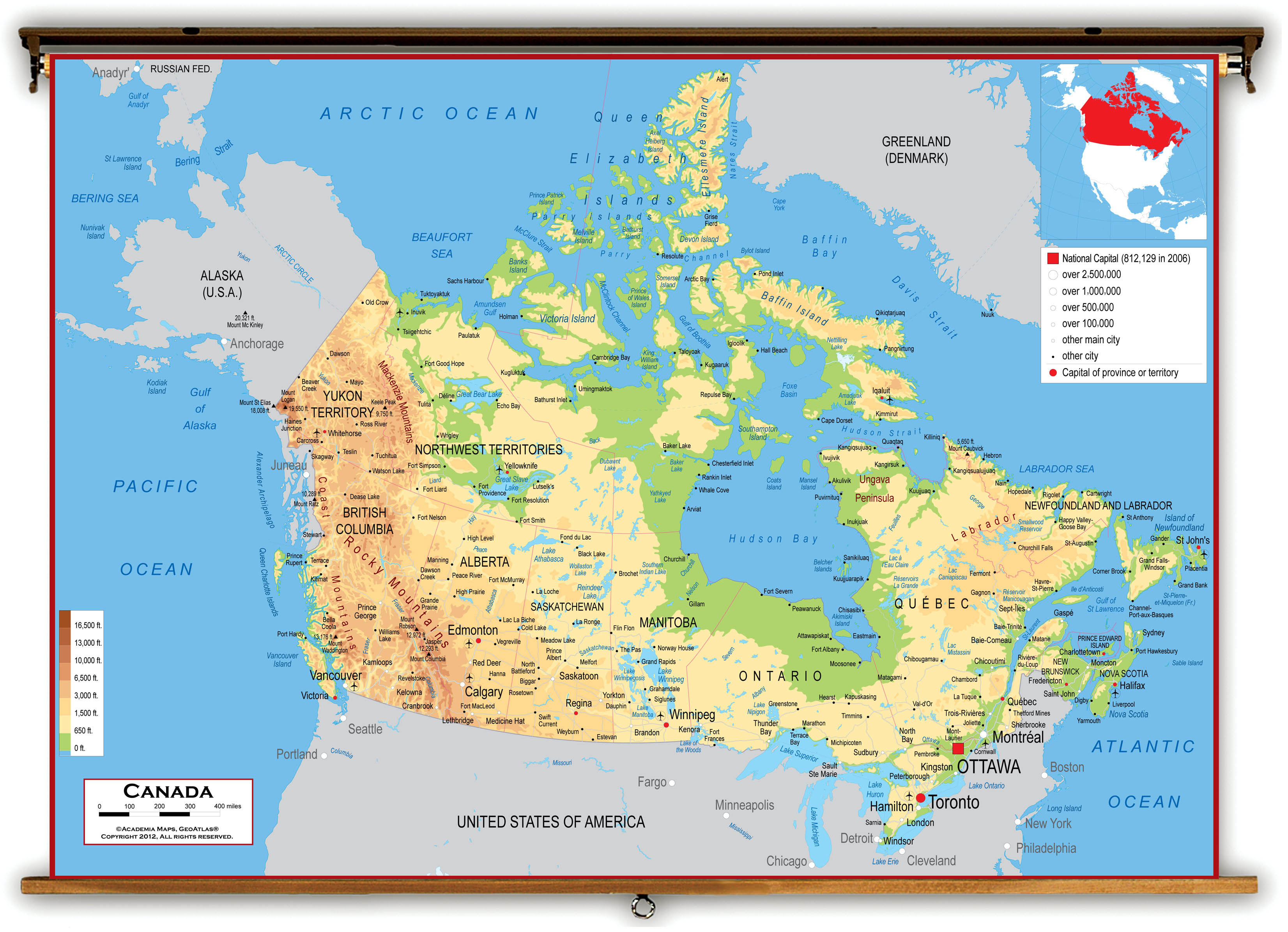 Map of canada hd