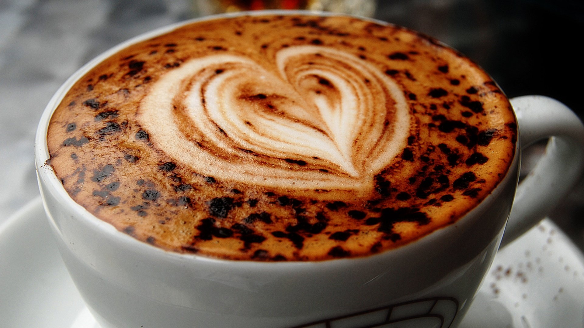 Coffee Cup With Heart - High Definition Wallpapers - HD wallpapers
