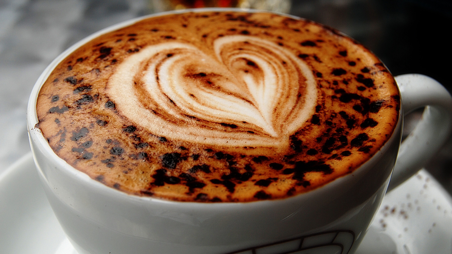 Coffee Cup With Heart   High Definition Wallpapers   HD wallpapers 1920x1080