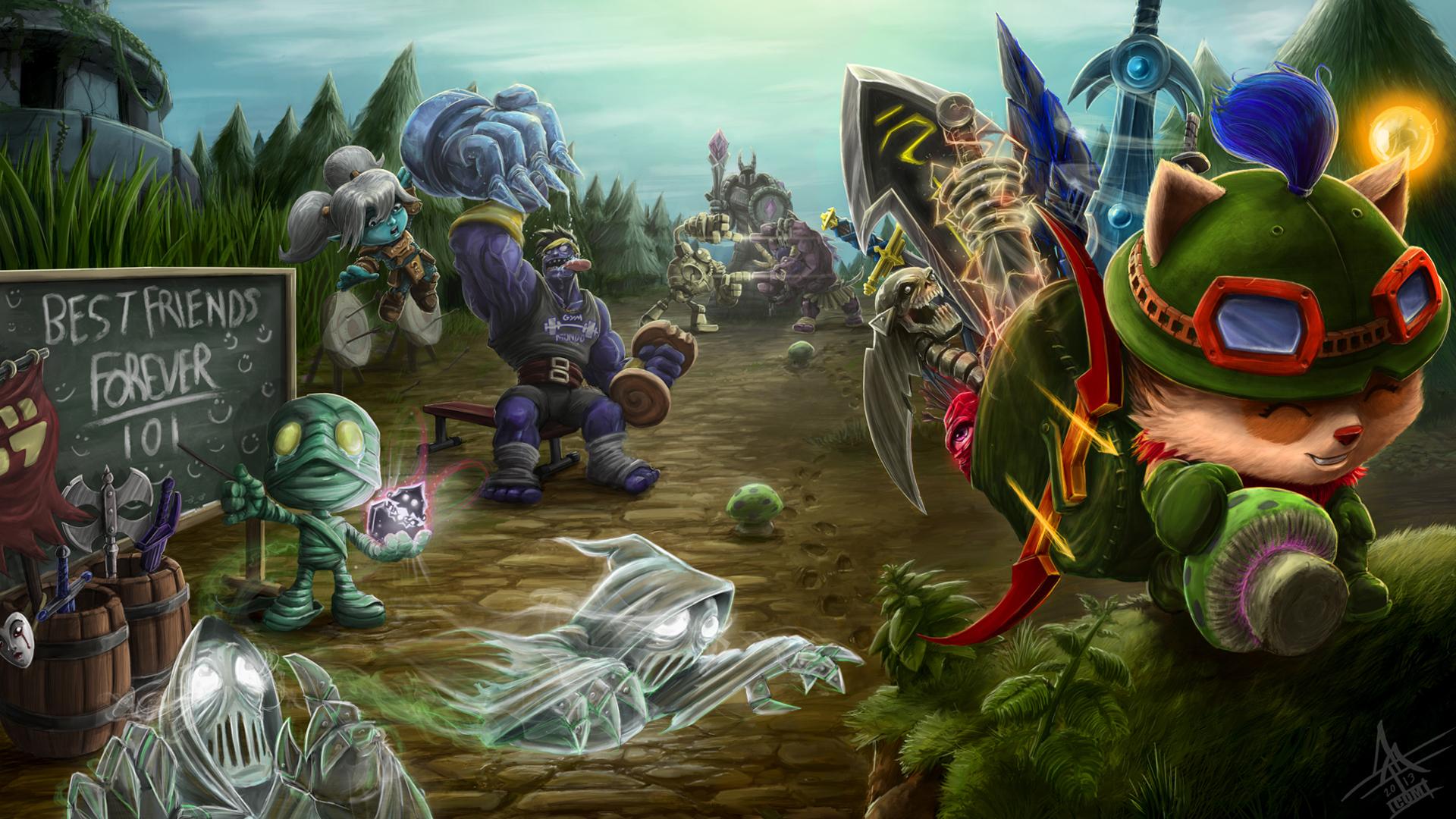 League Of Legends 1080p Wallpaper  WallpaperSafari